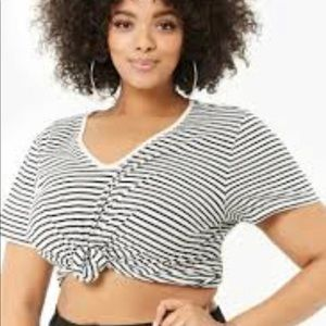 Forever 21+ striped t shirt